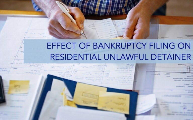 Effect of Bankruptcy Filing on Residential Unlawful ...