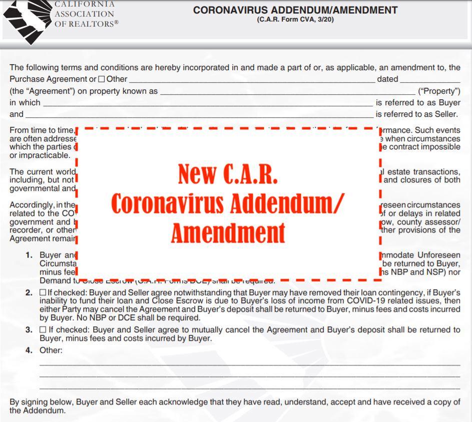 C.A.R. Coronavirus Addendum