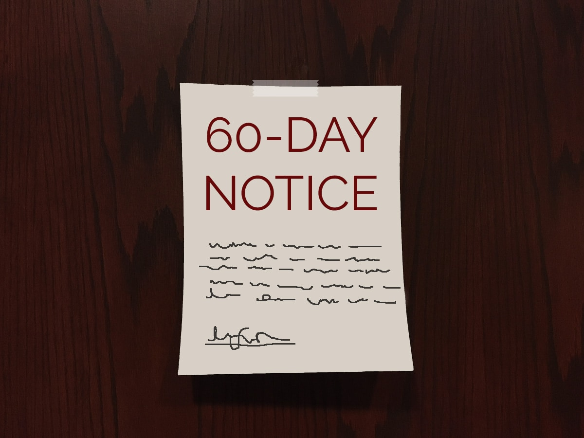 30-60 Day Notice to Terminate a Residential Lease
